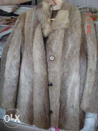 естествен косъм палто, втален модел