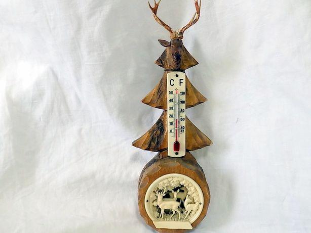 Termometru vintage de lemn/ Plata avans / T. gratuit posta