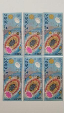Bancnote 2000 lei -eclipsa. SERIA A