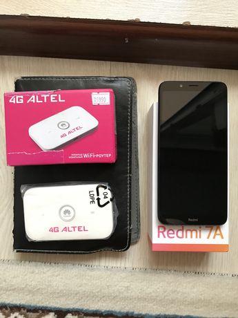 Redmi7a, планшет Huawei, роутер Altel.