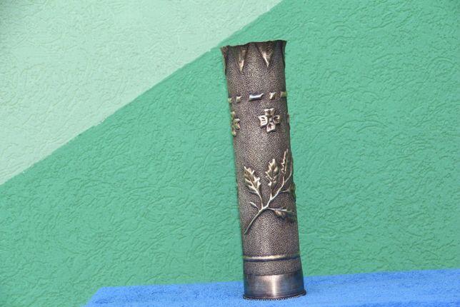 Vaza bronz din tub de proectil