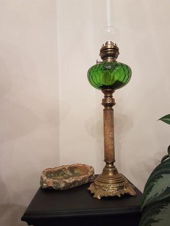 Lampa veche din bronz, alama si marmura