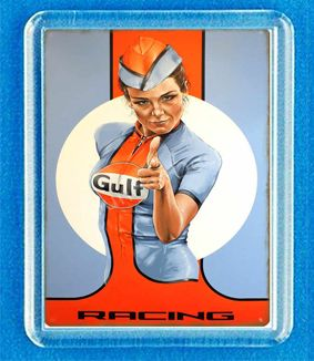 GULF - сет 1-2 сувенирни магнити за хладилник