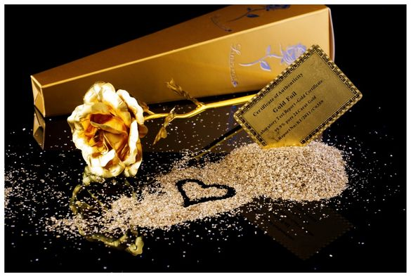 Златна роза-оригинал ;подарък за жена-рожден ден