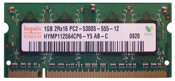 Memorii RAM 1Gb 667Mhz PC2-5300S-555-12 HYMP112S64CP6-Y5-AB-C Hynix SK