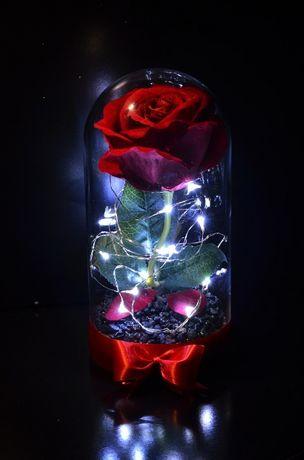 Вечна роза в стъкленица - вдъхновена от Красавицата и звяра