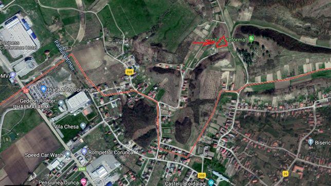 Teren de vanzare in Corunca (zona Castelului) 17 ari+13 ari deal