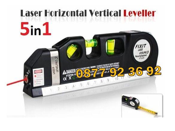 ПРОФЕСИОНАЛЕН ЛАЗАРЕН нивелир с ролетка, laser level pro 3