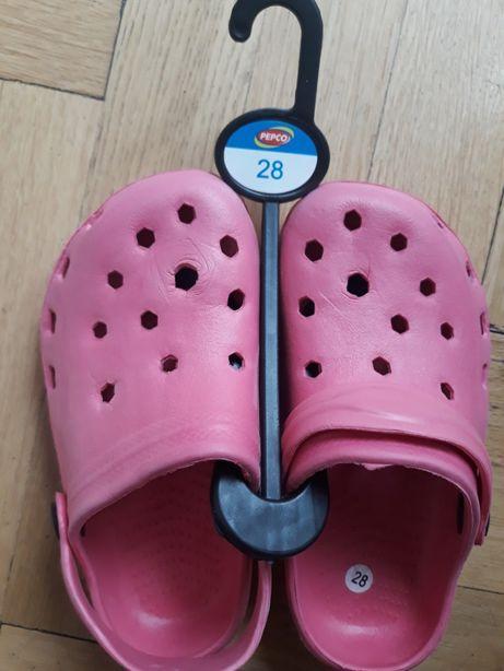 Crocs/papuci fetițe, casa/plaja NOI, masura 28, Pepco