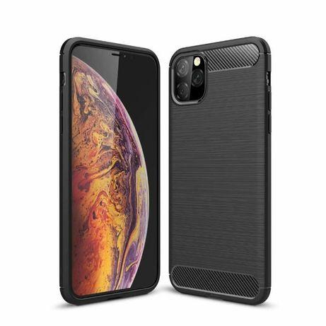 Луксозен черен калъф карбон Carbon за iPhone 11 / 11 Pro / 11 Pro Max