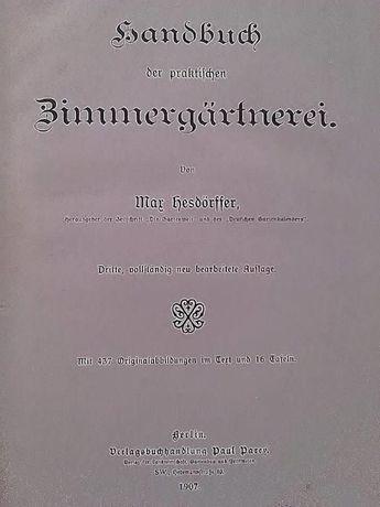 Handbuch der praktischen Zimmergärtnerei de Max Hesdörffer