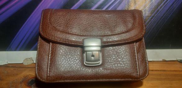 Ретро мъжка кожена чантичка