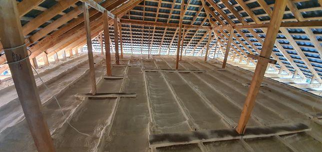 Утепление стен, фасадов, крыш методом напыления пенополиуретаном ППУ.