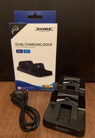 Зарядная станция для джойстиков контроллера PS4 Pro/Slim, DOBE