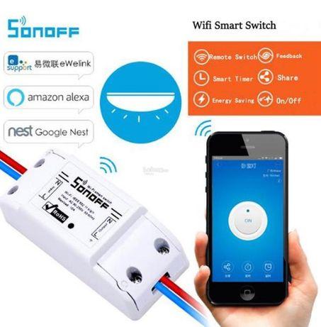 Sonoff Basic - 10А WiFi смарт реле (прекъсвач) безжично упраление