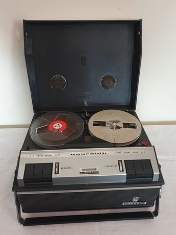 Magnetofon vintage pe lampi, Grundig Bayreuth Automatic De Luxe