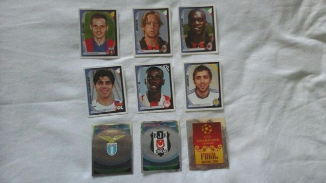 stickere panini ucl07/08, ucl08/09, ucl09/10, ucl10/11.