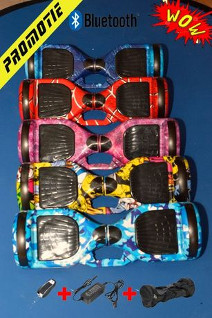 Hoverboard Blu Camouflage cu hovercart