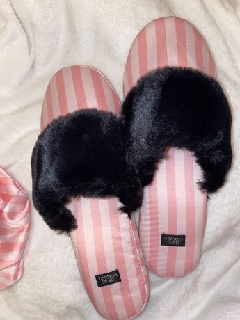 Papuci Victoria's Secret satin roz noi cu eticheta