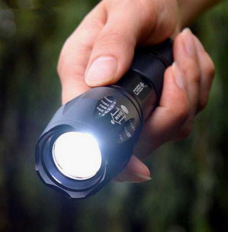 Мощный водонепроницаемый фонарь Atomic Beam аккумулятор в комплекте