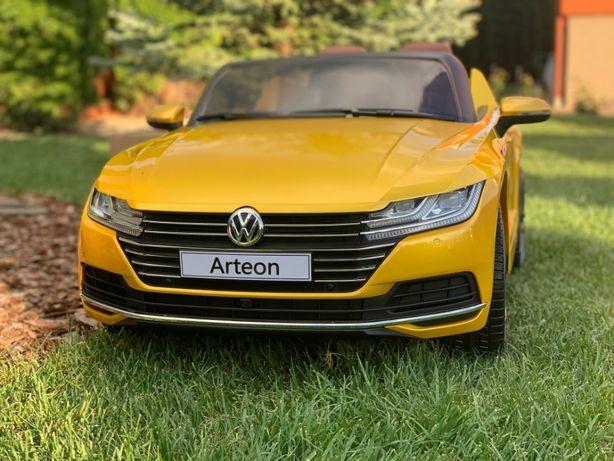 Masinuta electrica VW Arteon Editie Limitata, Scaun de piele, roti EVA