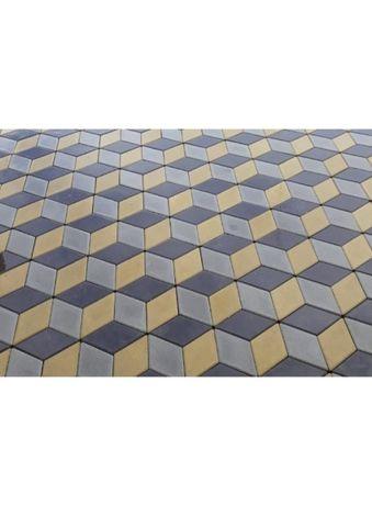 Dale beton Pavele Pavaj curte model romb 3D EuroprodGrup.ro