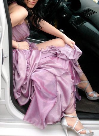 Бална рокля 2в1 - лилава