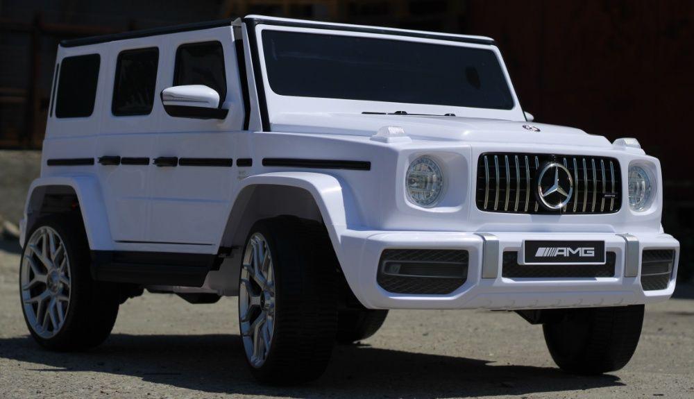 Masinuta electrica pentru 2 copii Mercedes AMG G63 XXL 4x4 #White Sibiu - imagine 1