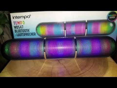 Boxa bluetooth cu orga de lumini Intempo, noua, garantie