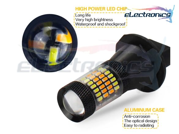 DRL LED Дневни светлини с МИГАЧ, DRL LED светлина, SMD, ba15s