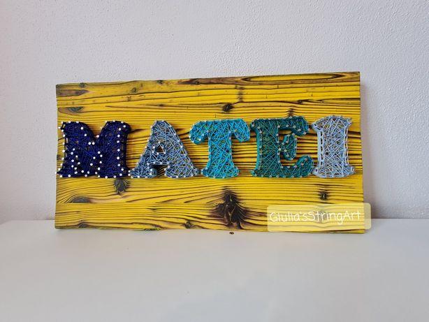 Tablouri copii/Nume handmade,Litere decorative/Giulia'sStringArt