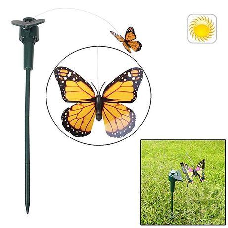 Соларна декорация за градина, соларно колибри, соларна пеперуда