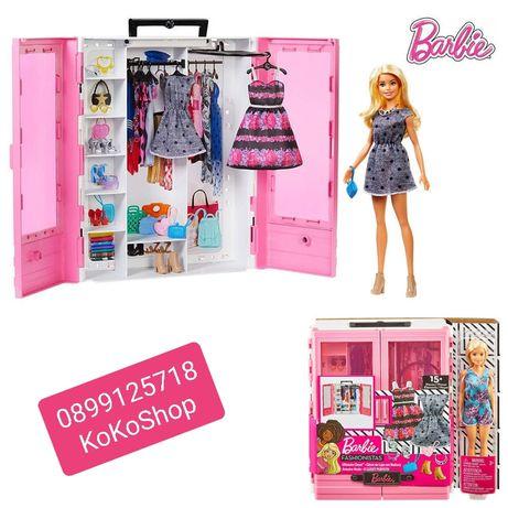 Кукла Барби с гардероб и модни аксесоари