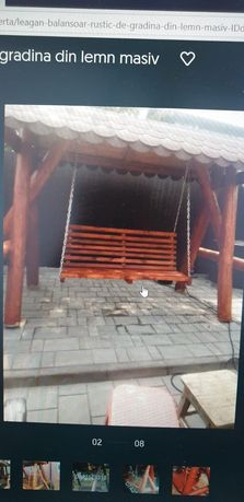 Leagan de gradina lemn rotund