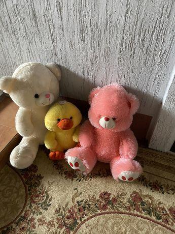 3больших мякгие игрушки мишки