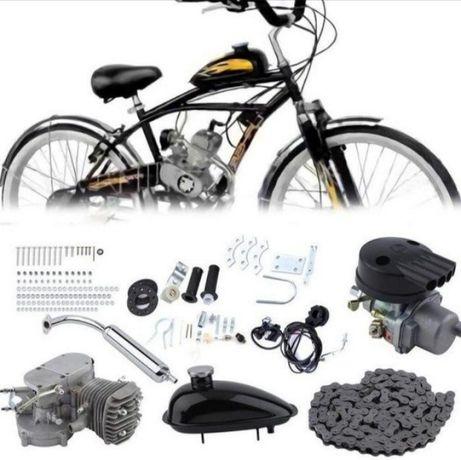 Велодвигател Бензинов Двигател за Колело 80 кубика