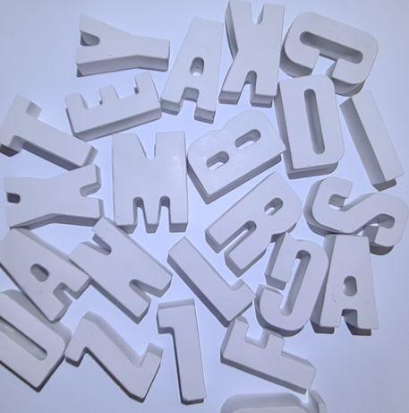 Vând litere din ipsos pentru decor , decorațiune handmade