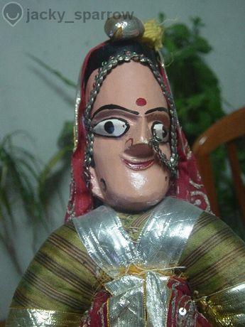 Кукла На Конци Индийска Принцеса- Реквизит На Куклено Шоу-дървена Ръчн