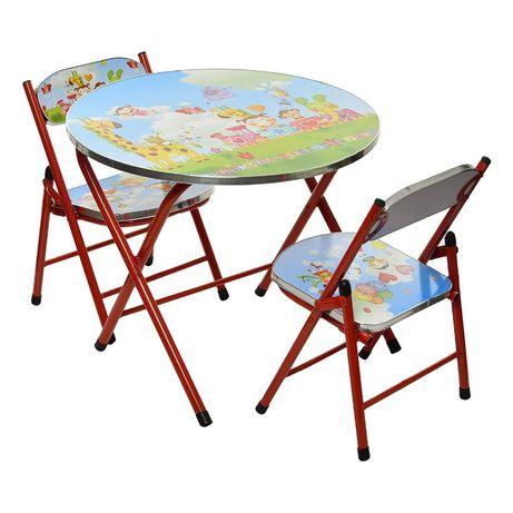 Set Masa rotunda pentru copii cu 2 scaune pliabile