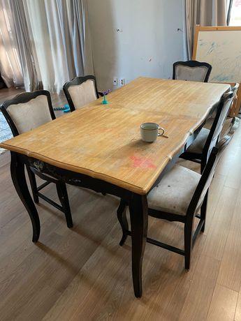 Стол обеденный со стульями