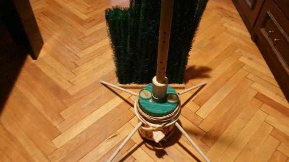 Ретро въртележка за елха с разклонител и сглобяема елха