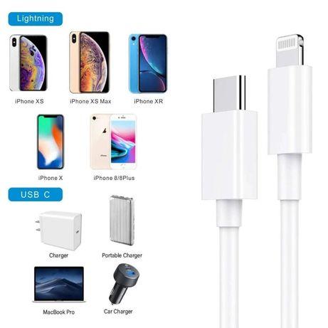 Iphone 11 / 11 PRO / 11 PRO MAX - Cablu Usb Lightening - Type C Pret