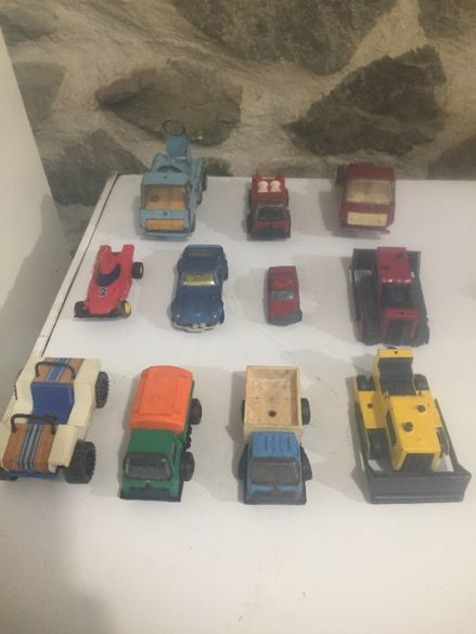 11 бр.стари детски метални играчки -колички