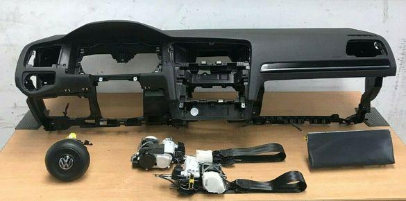 Продавам комплект аербеци airbag за VW Golf 7 в перфектно състояние