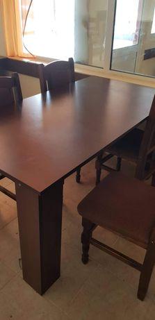 Маса с 4 стола. Размери 150/90 см.(Има 6 бр. Маси, с 4 стола за маса).