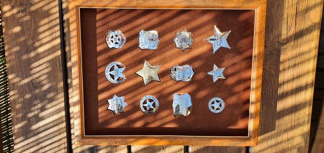 Set 12 insigne western Franklin Mint din argint