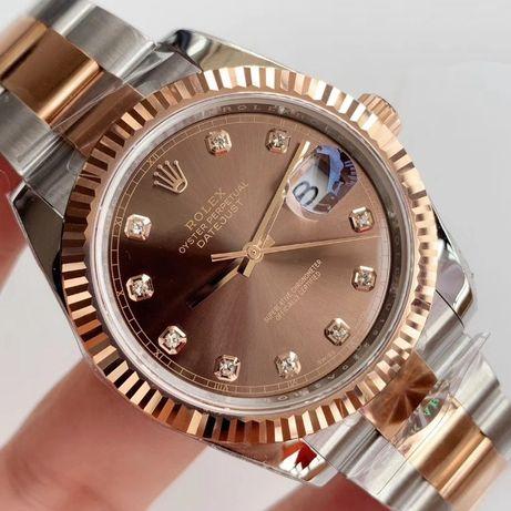 Rolex Datejust 41MM Rose Gold Chocolate Diamond 126331 SWISS
