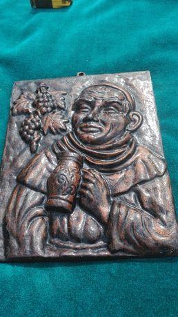 FRANCISCAN călugăr placă turnantă bazorelief