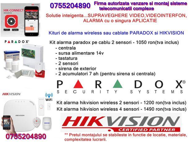 Montaj camere de supraveghere/interfoane/alarma/bariere auto.