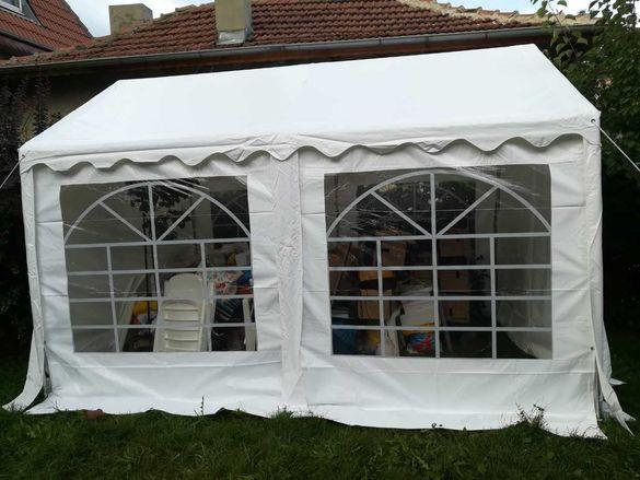 Здрава градинска шатра 3х4, 100% водоустойчив PVC брезент